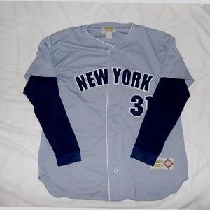 Stardom Shirts - New York Yankees Long Sleve Road Jersey